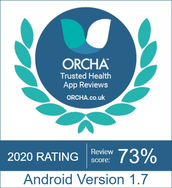 Logo of the organisation Orcha that reviews and scores health apps.